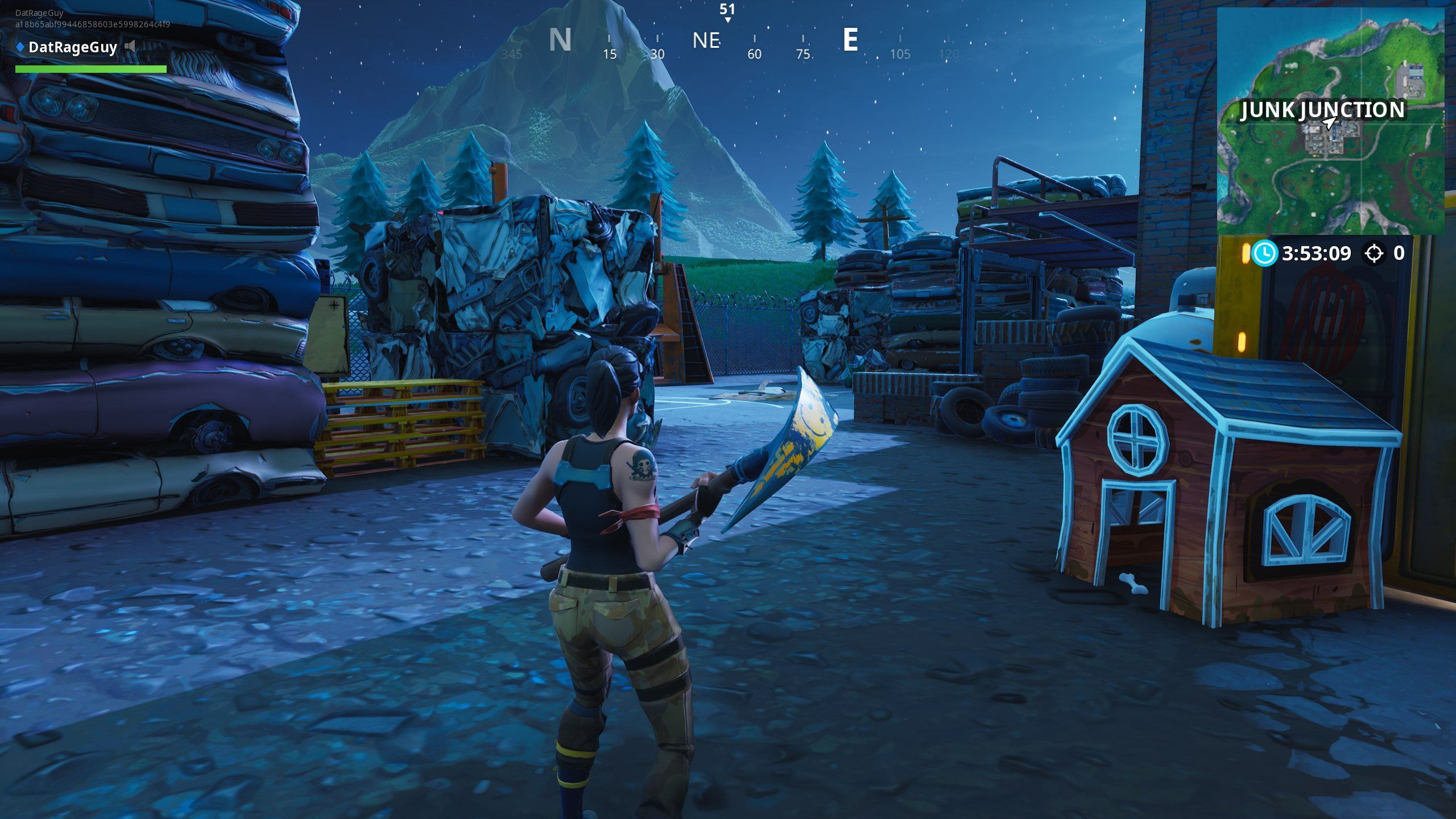 Treasure map signpost location in Junk Junction - Fortnite