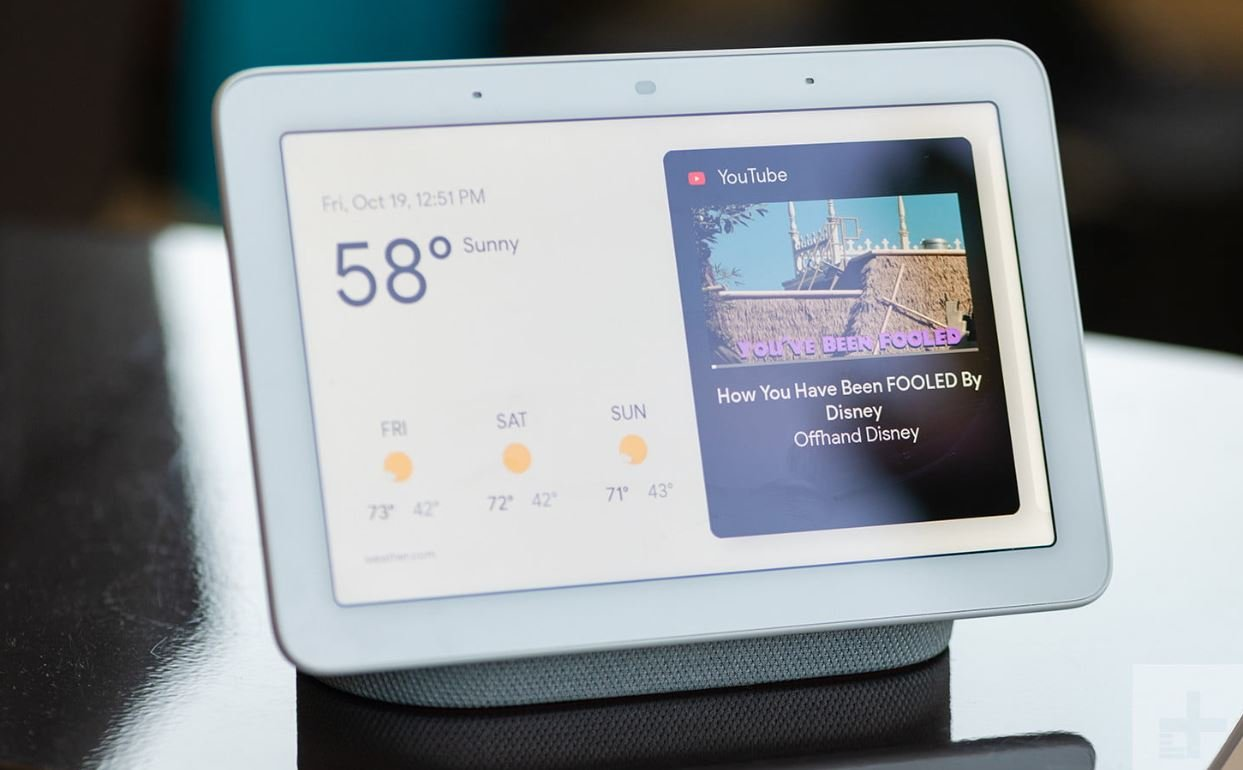 The Nest Home Max is an improved version of the older Google Home Hub that includes a camera.