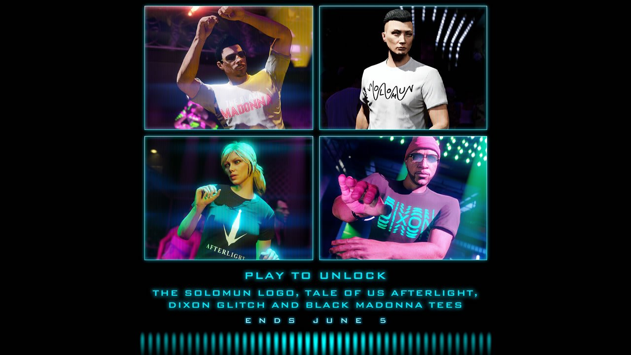 GTA Online $250k nightclub bonus free DJ t-shirt tees
