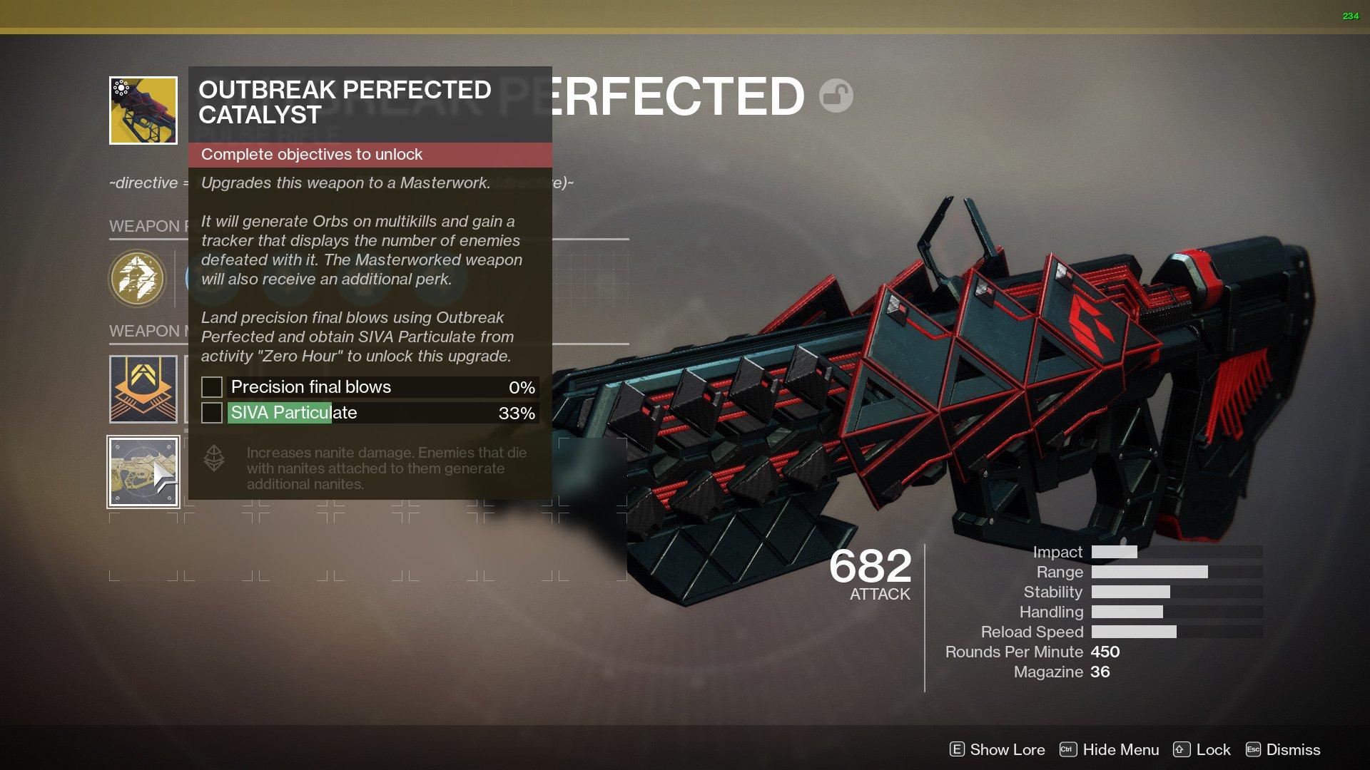 Outbreak Perfected Destiny 2