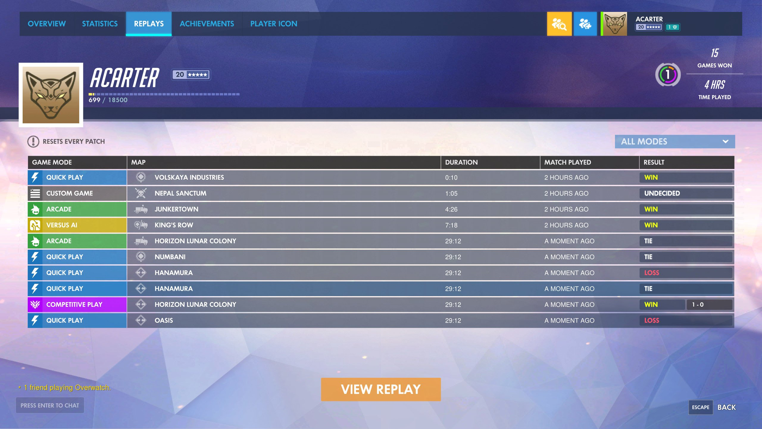 Overwatch replay tool watch replays