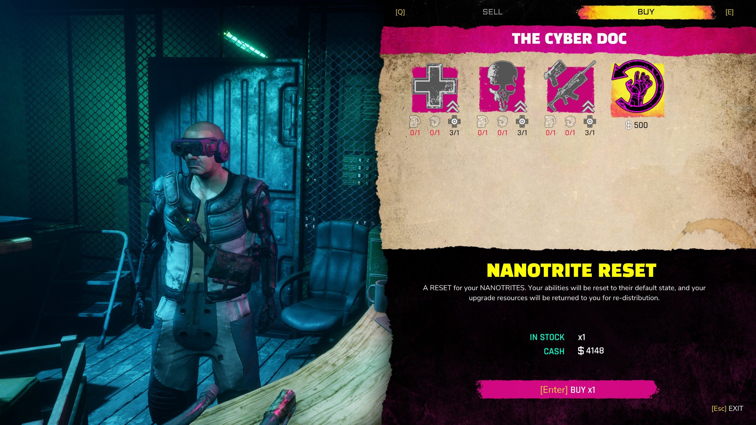How to reset Nanotrites and respec in Rage 2