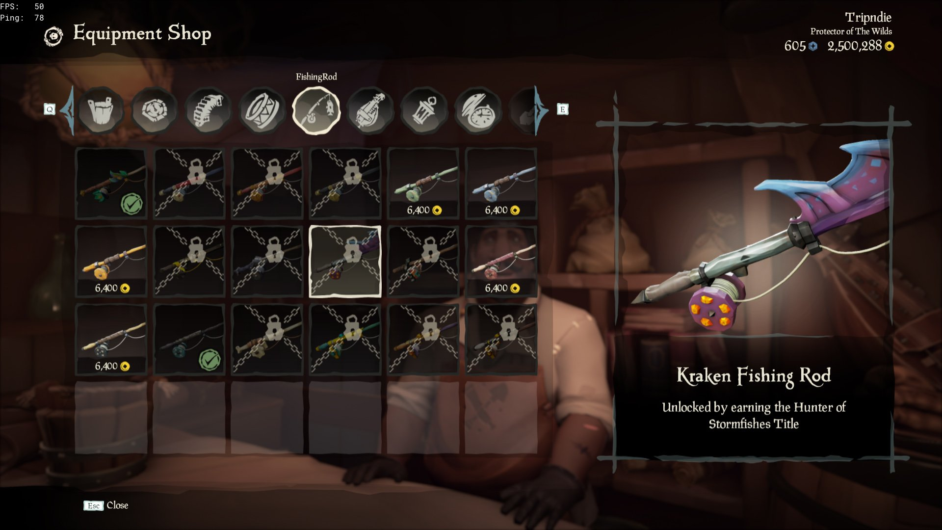 fishing rods sea of thieves