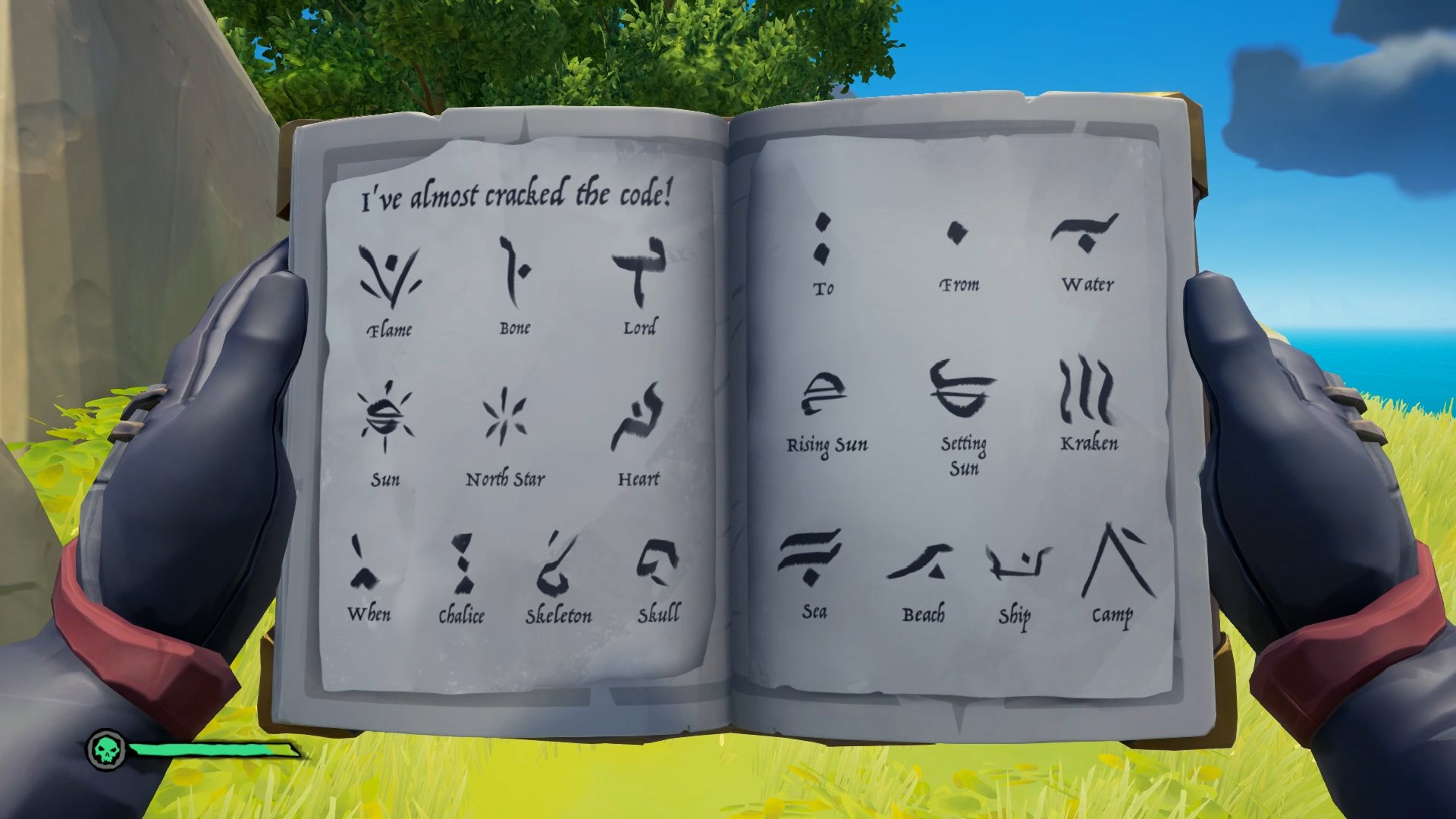 Sea of Thieves skeleton language code