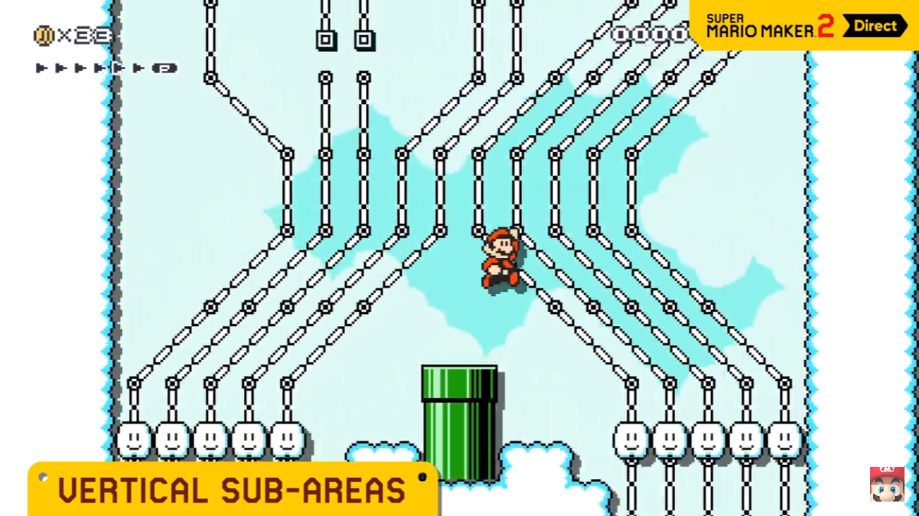 Super Mario Maker 2 adds custom scroll, water level and more