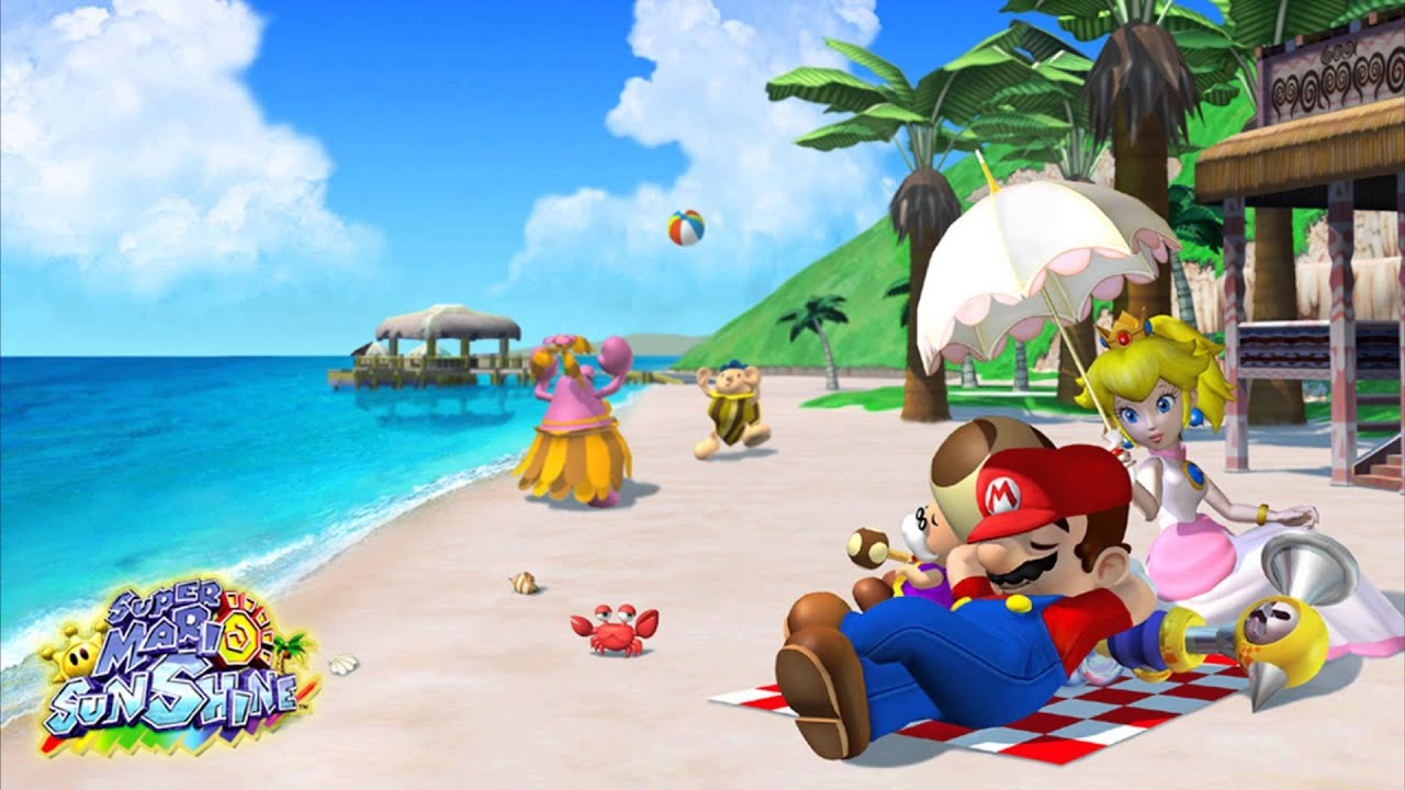 Chilling on the beach with Peach and pals sounds like it would be a fun escape from late stage capitalism.