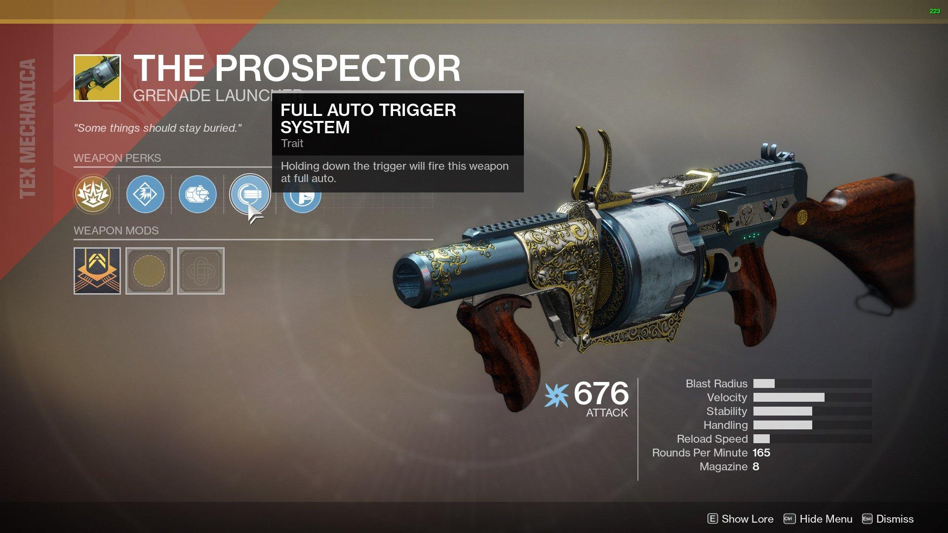 Prospector Destiny 2