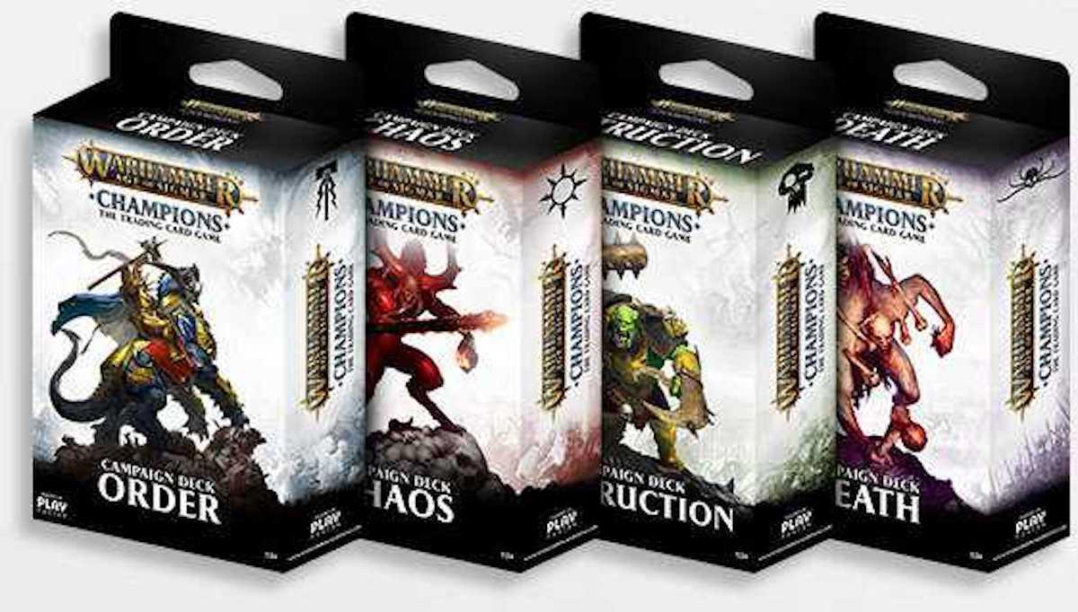 Warhammer Age of Sigmar: Champions Starter Decks.