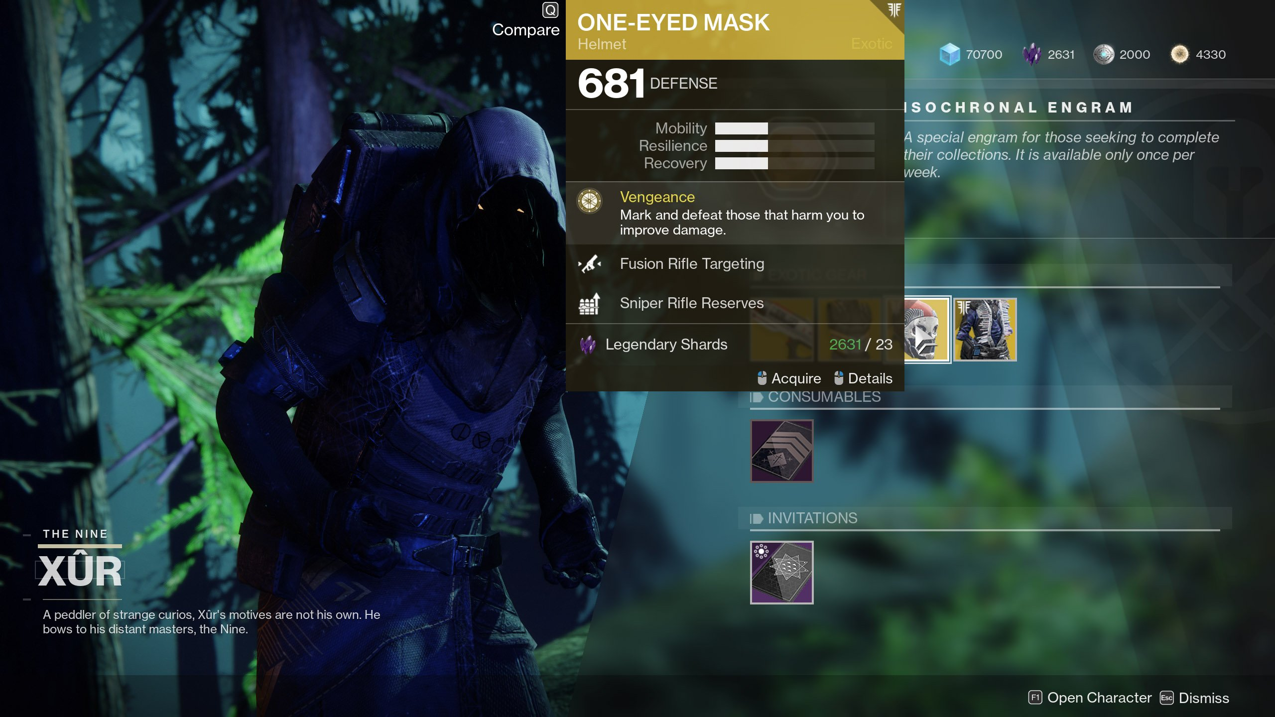 Xur One Eyed Mask Destiny 2