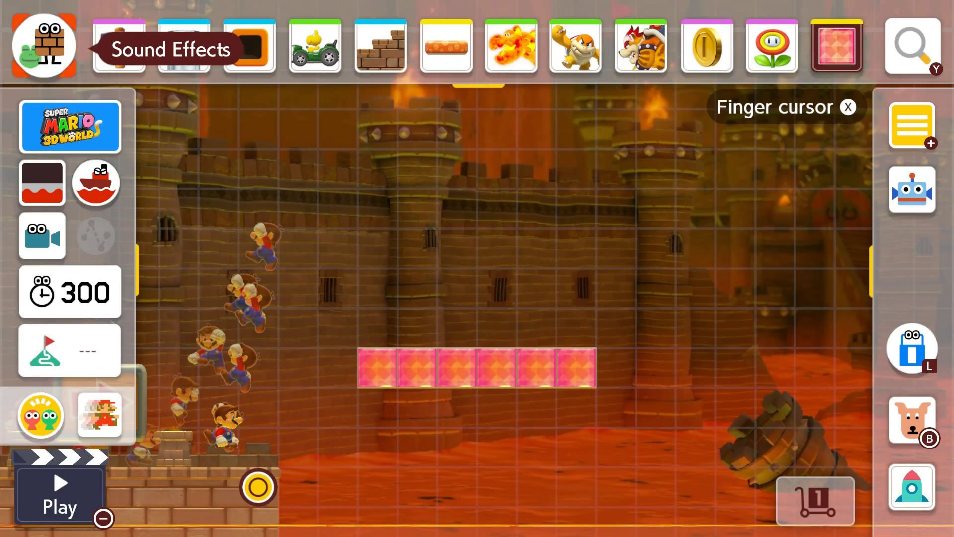 How to add sound effects in Super Mario Maker 2 Course Maker - Sound effects menu