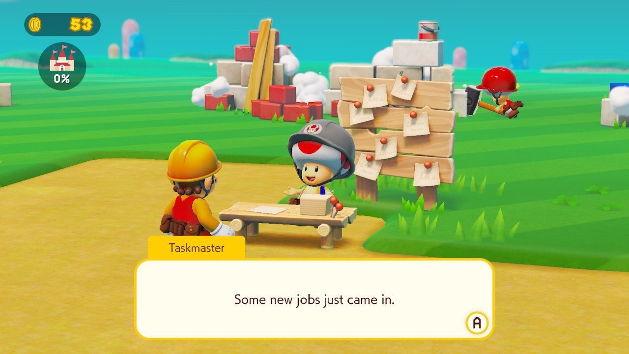 Super Mario Maker 2 Story Mode Job List