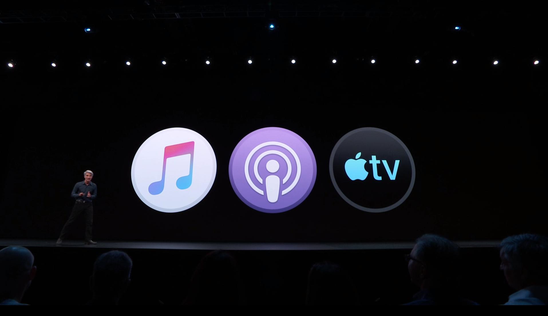 Apple Music, Podcast, TV