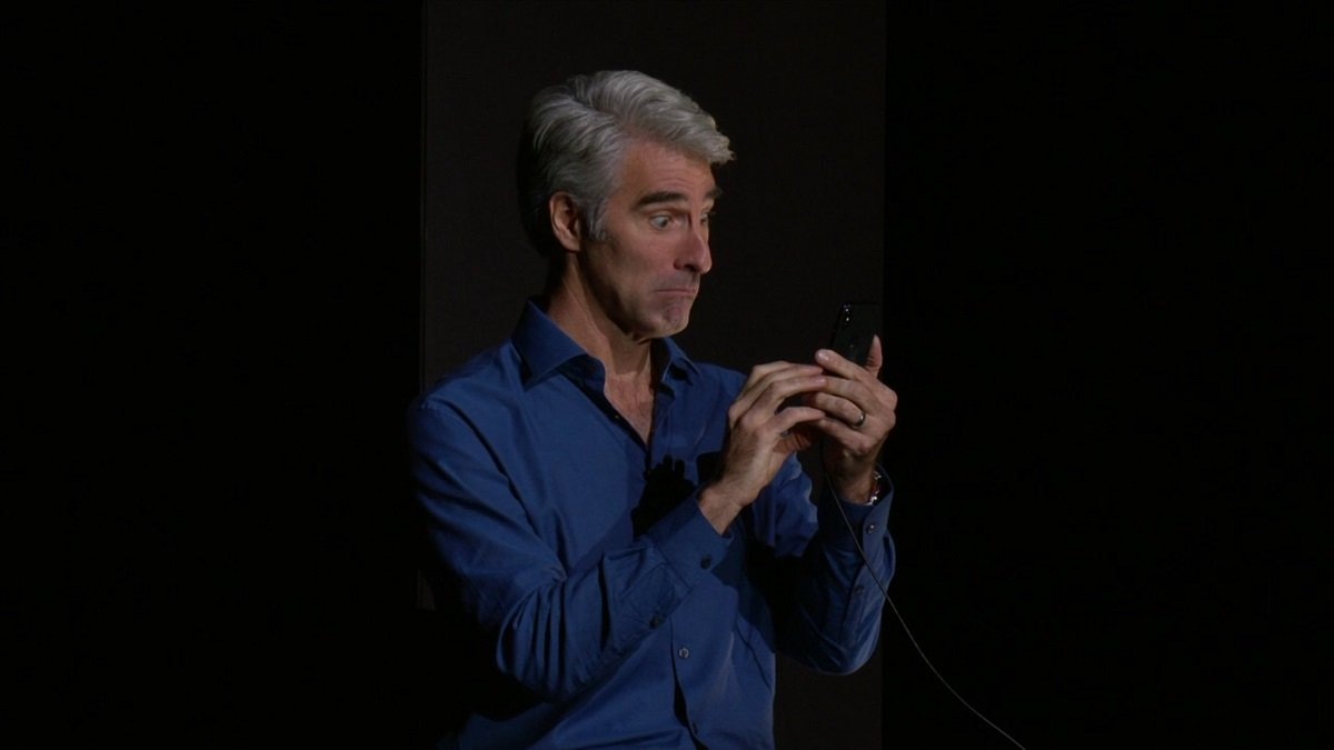 Craig Federighi makes the best faces with Animoji.