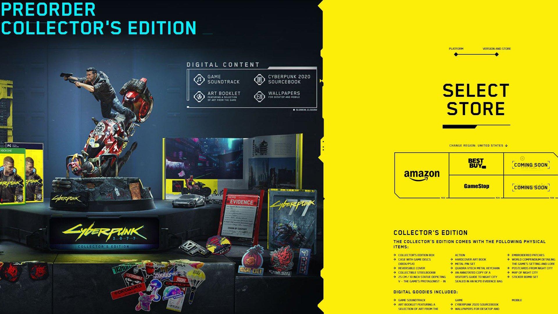 Cyberpunk 2077 Collector's Edition Pre-Order