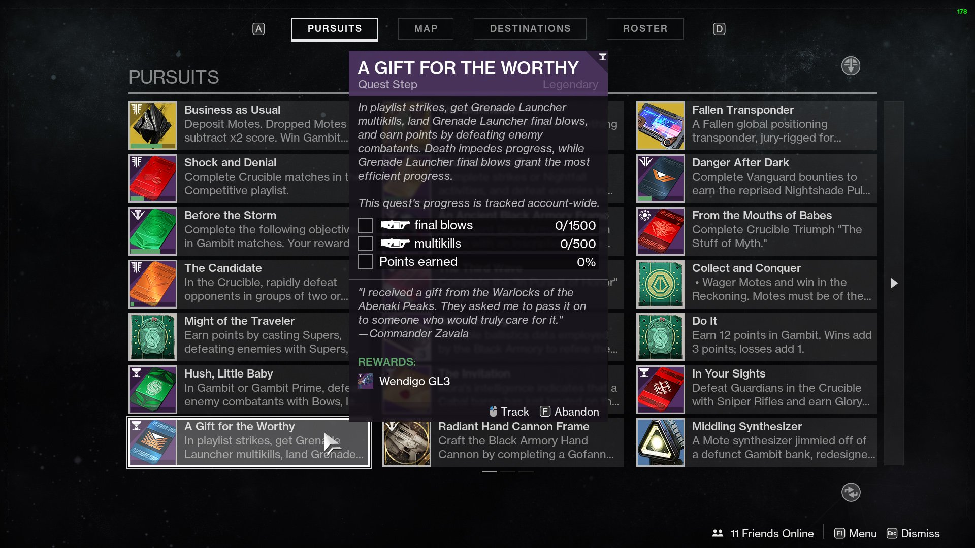 Destiny 2 A Gift for the Worthy Wendigo-GL3