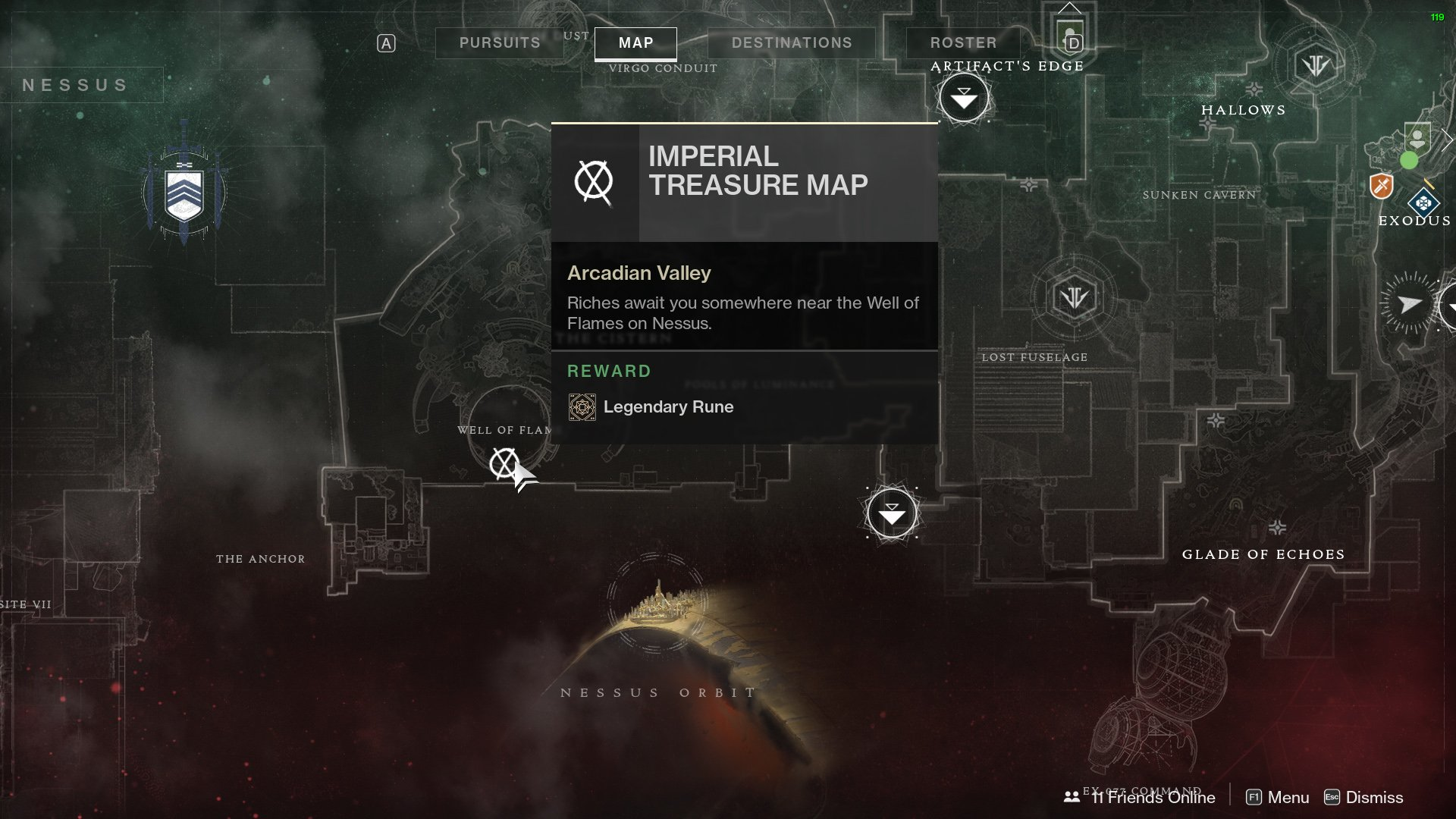 Destiny 2 Imperial Treasure Map