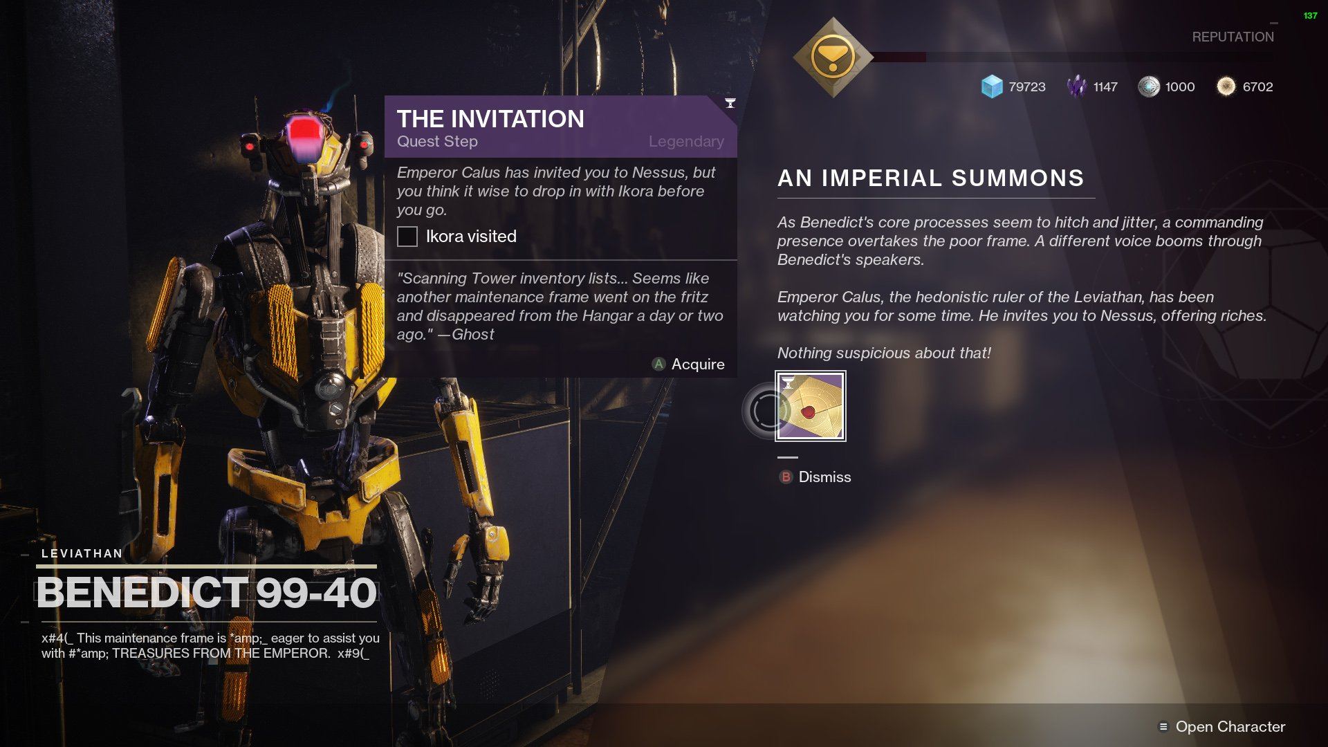 Destiny 2 The Invitation An Imperial Summons