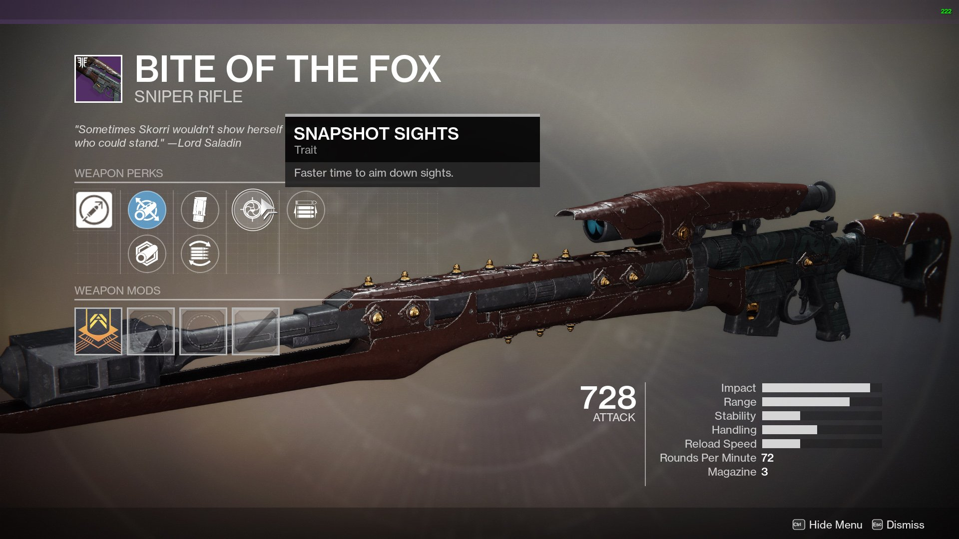 Destiny 2 Bite of the Fox