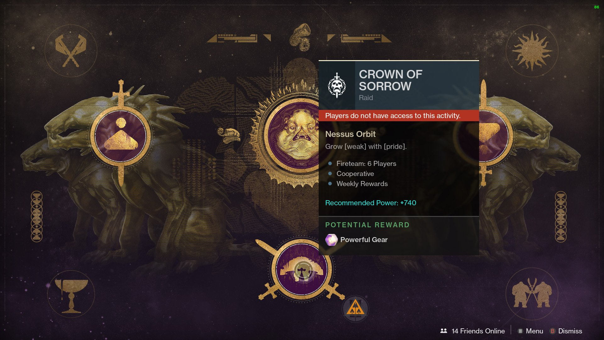 How to unlock Crown of Sorrow raid - Destiny 2 | Shacknews