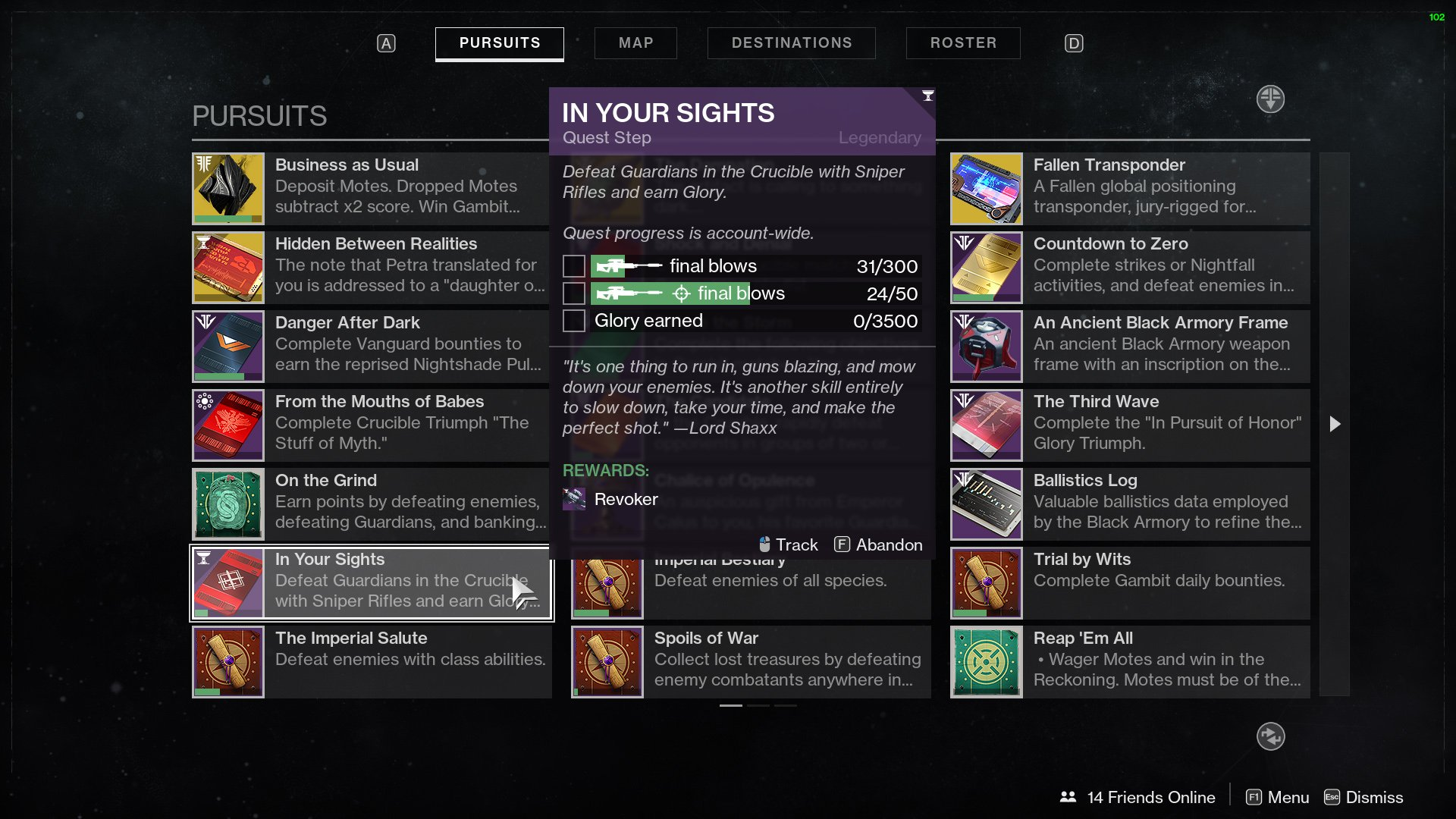 Destiny 2 Revoker In Your Sights