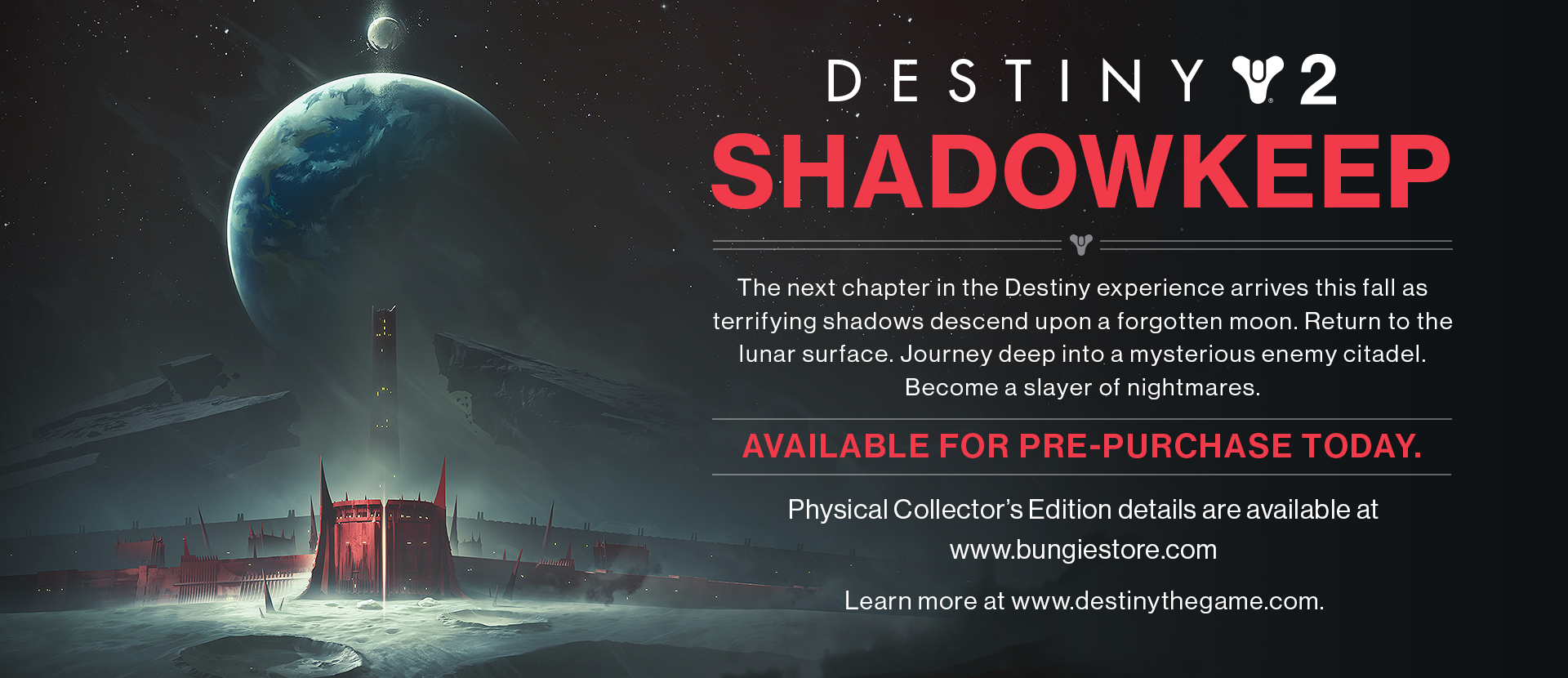 Destiny 2: Shadowkeep expansion possibly leaked