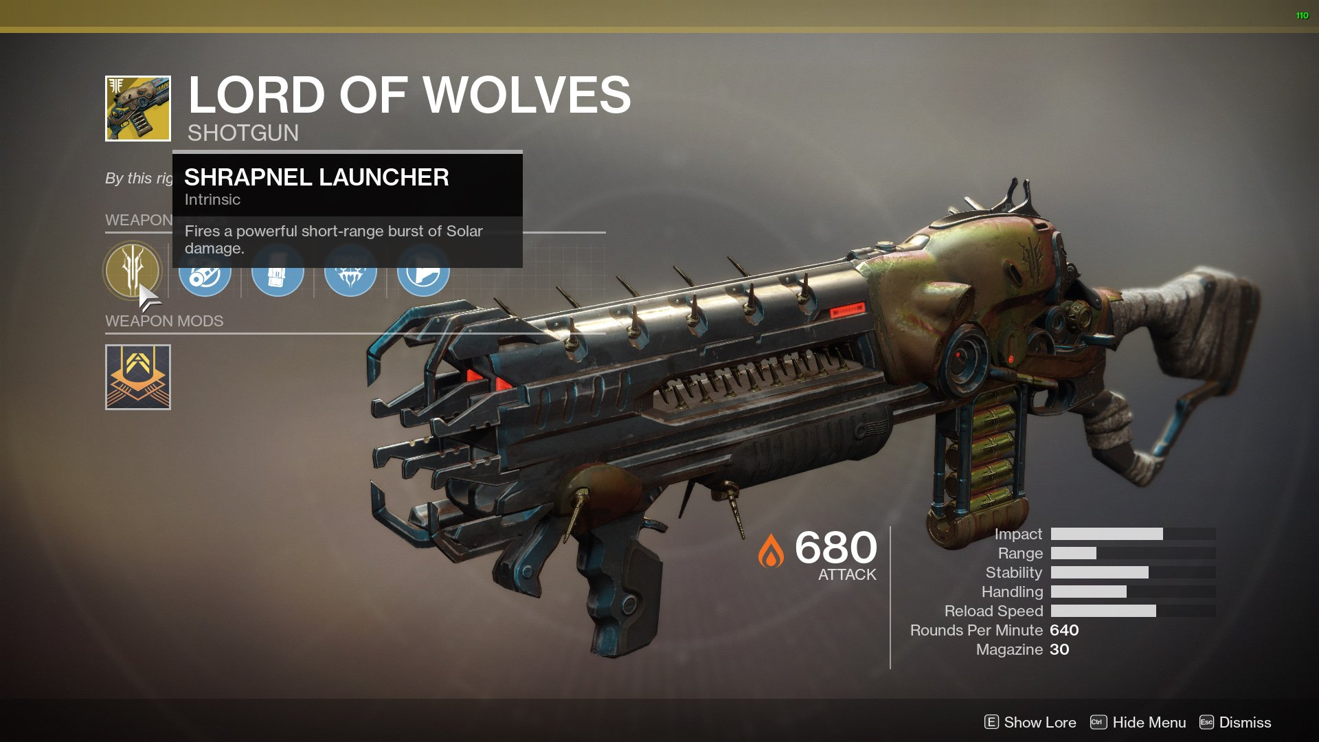 Destiny 2 Lord of Wolves nerf