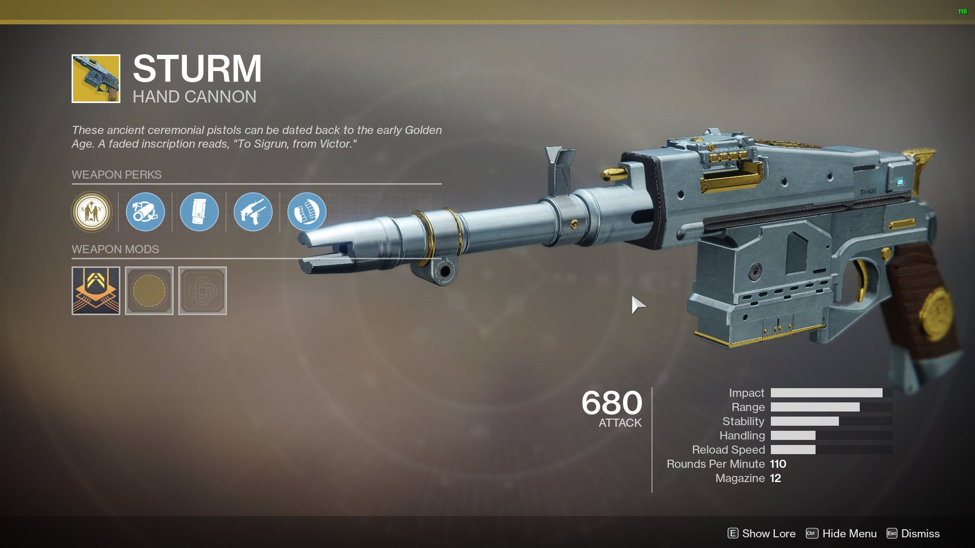 Destiny 2 Sturm and Drang buff