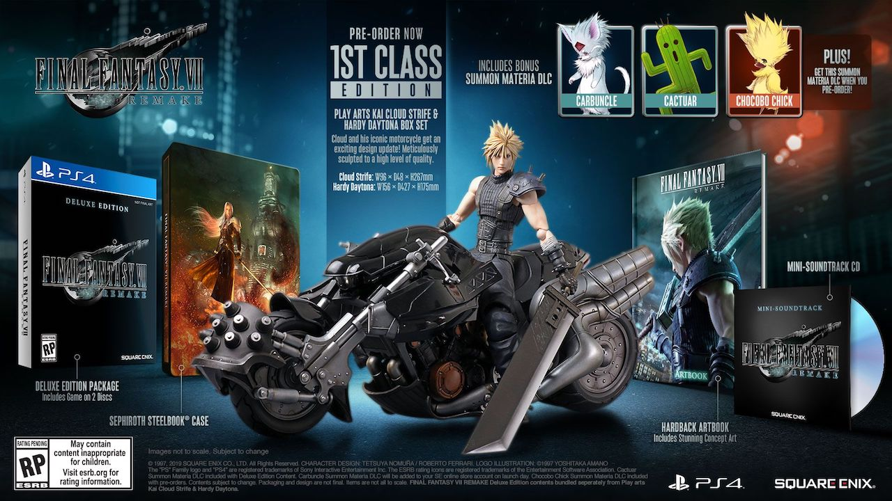 Final Fantasy 7 Remake preorder 1st Class Edition bonuses
