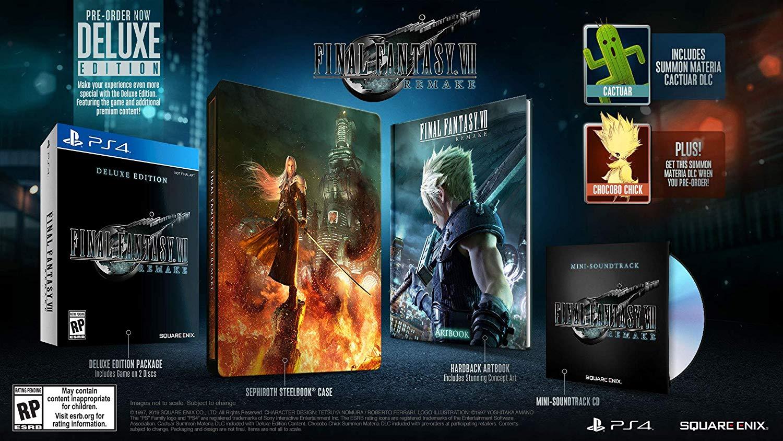 Final Fantasy 7 Remake preorder Deluxe Edition bonuses