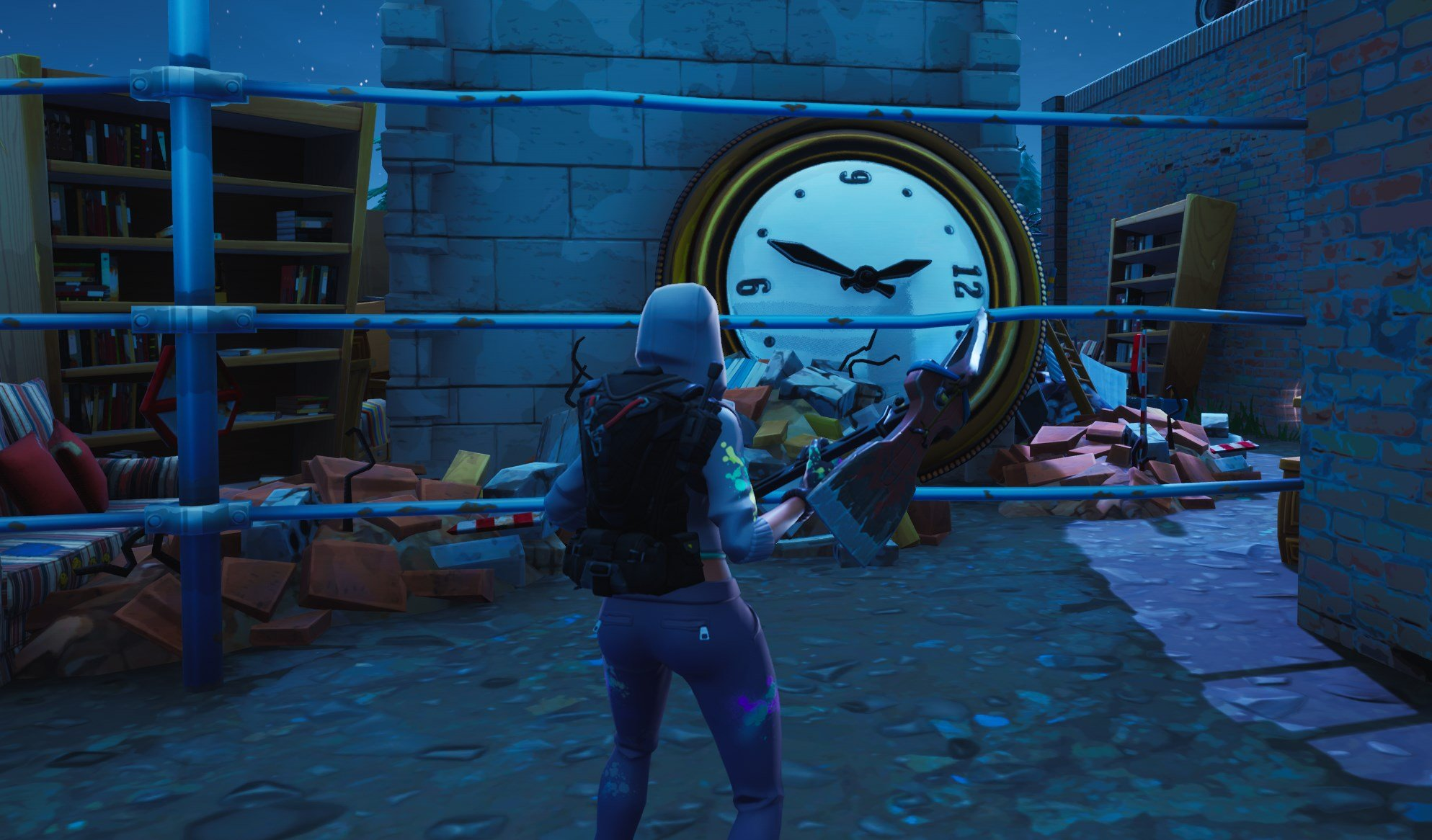 All clock locations in Fortnite - Junk Junction