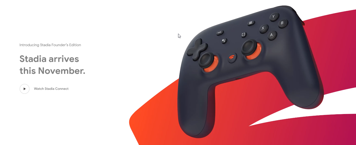 Google Stadia release date revealed