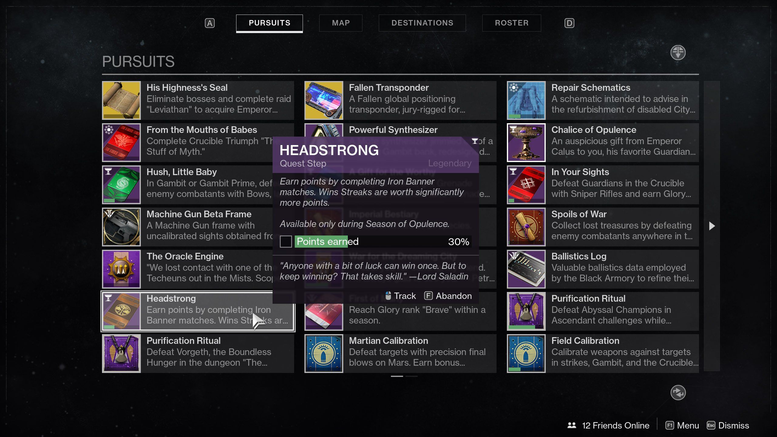 Headstrong Quest Step Destiny 2