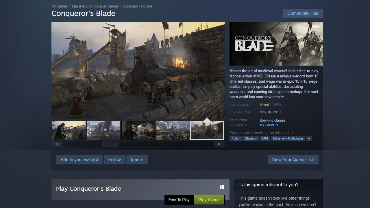 How to sign up for Conqueror's Blade open beta PC steam