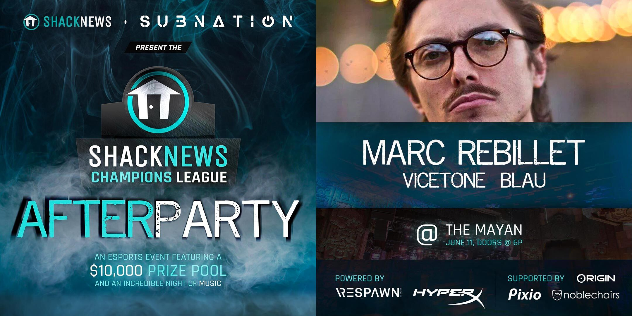 E3 2019 parties - Shacknews Champions League E3 After Party Marc Rebillet