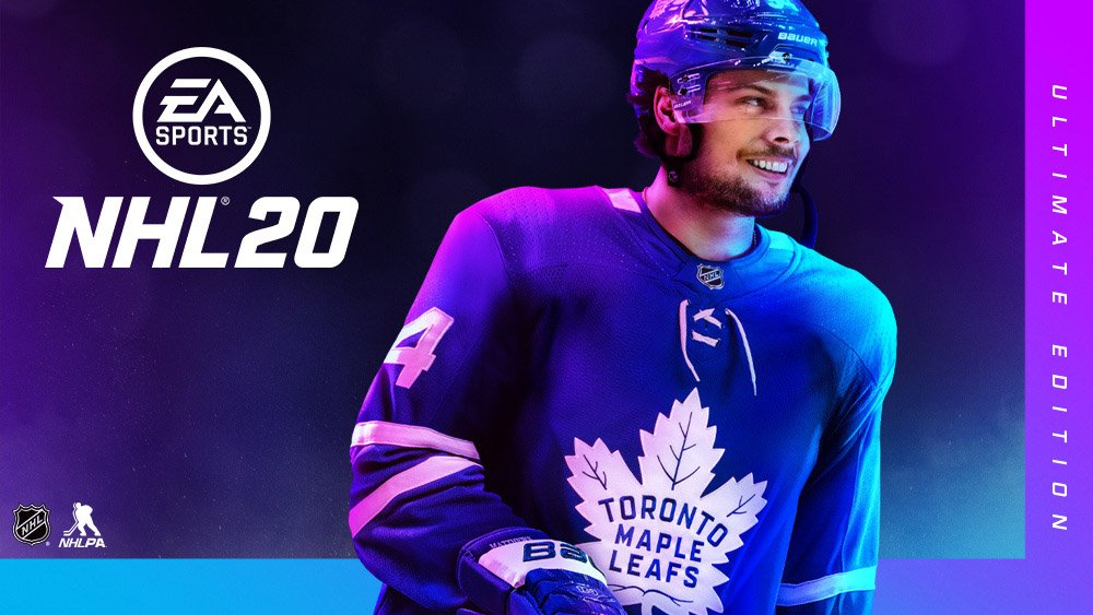Auston Matthews NHL 20 Cover Athlete