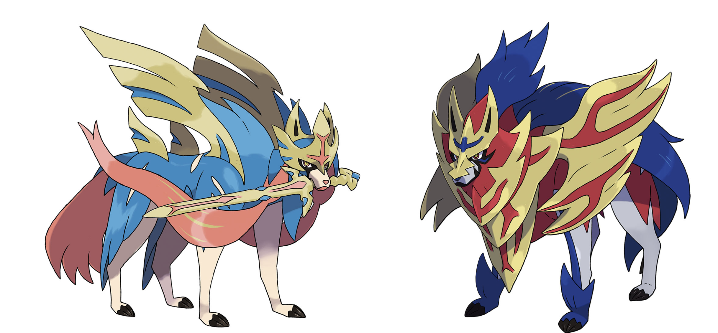 Zacian and Zamazenta