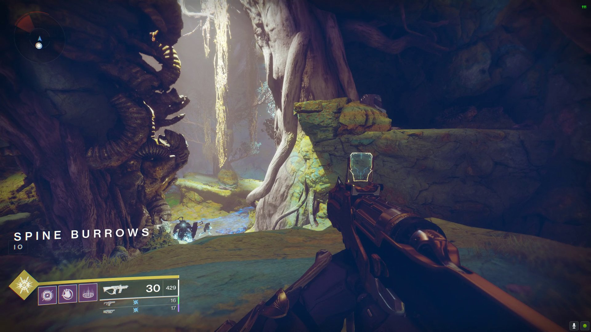 Spine Burrows Imperial Treasure location in Destiny 2