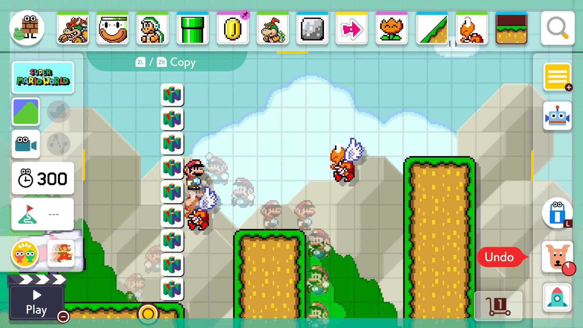 Super Mario Maker 2 Course Maker - How to undo and delete
