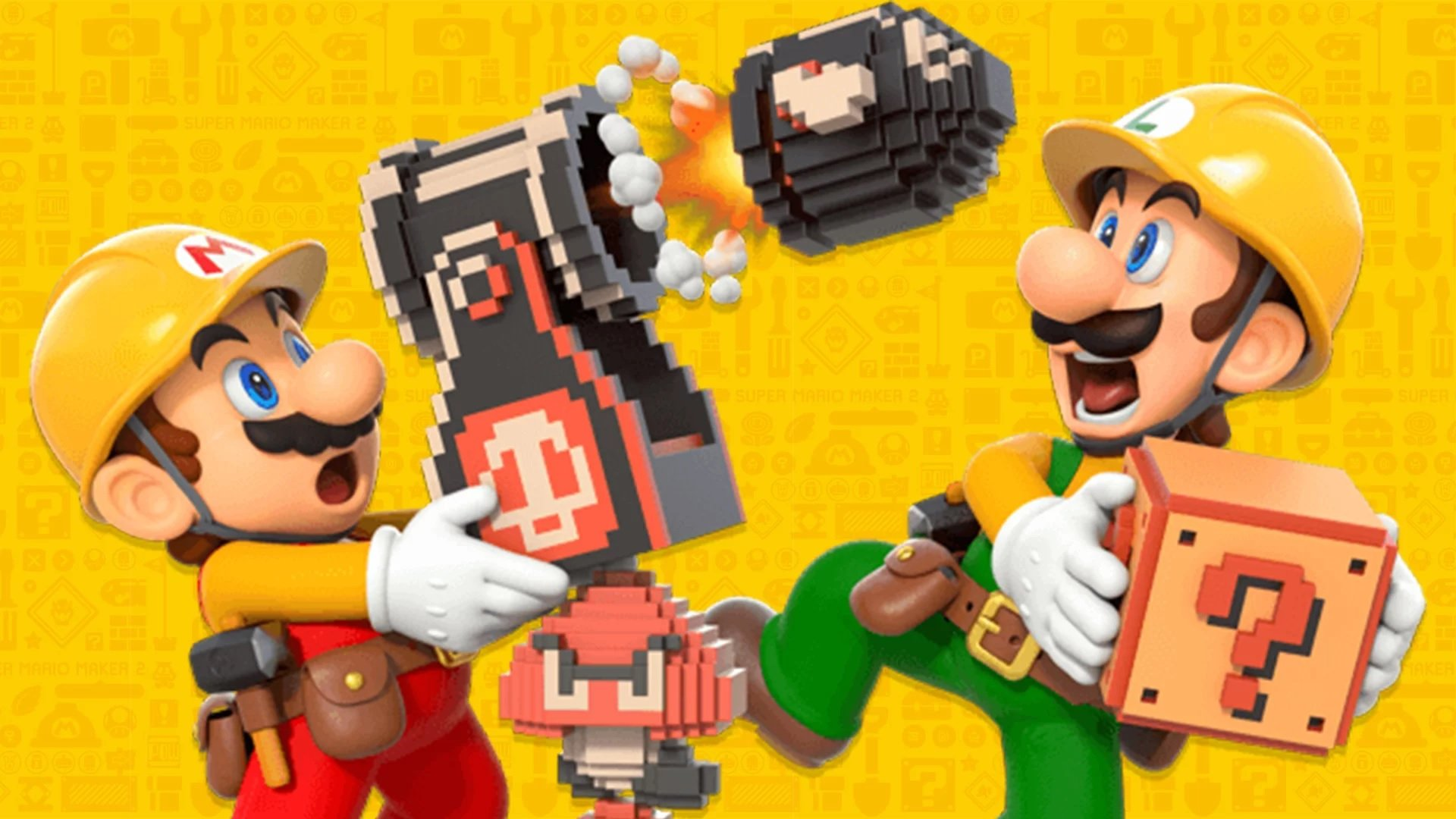 A whole host of new items, gizmos, terrains, and powerups are available in Super Mario Maker 2.