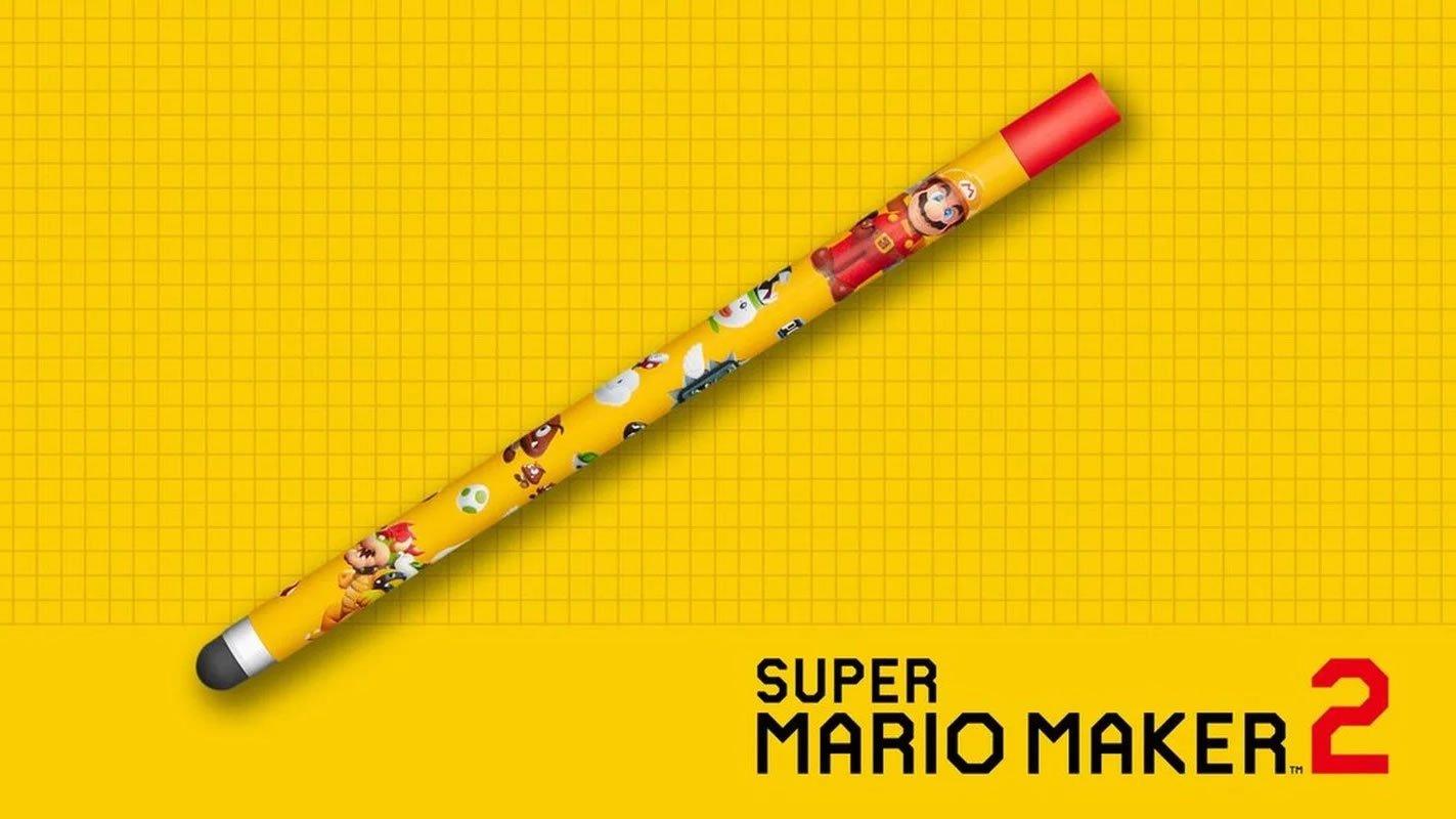 Super Mario Maker 2 stylus - official Nintendo