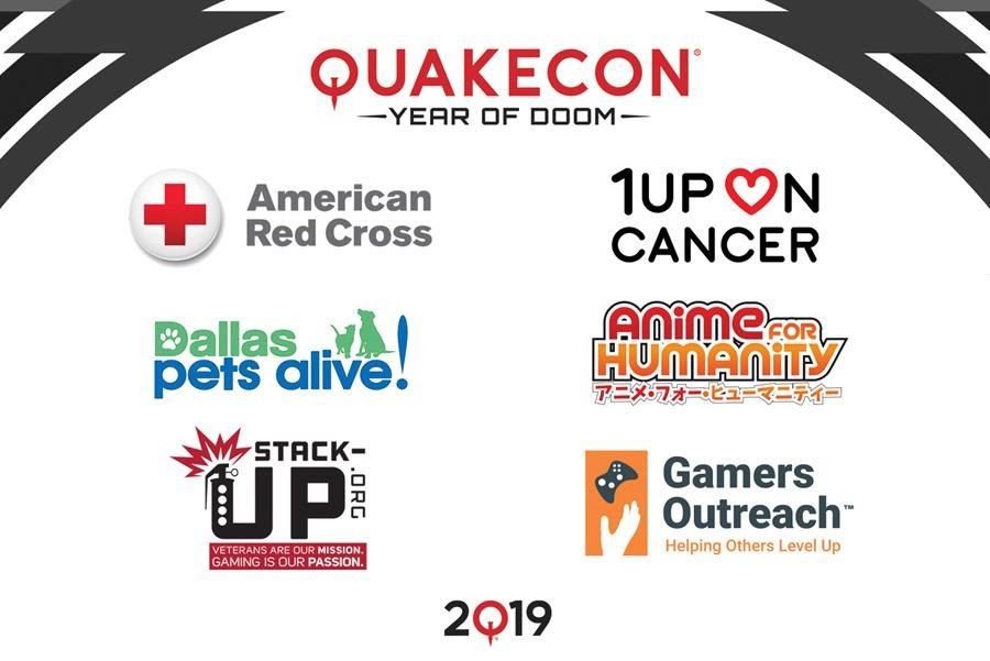 The American Red Cross, 1up on Cancer, Dallas Pets Alive!, Anime for Humanity, Stack-Up, and Gamers Outreach will all be at QuakeCon 2019.