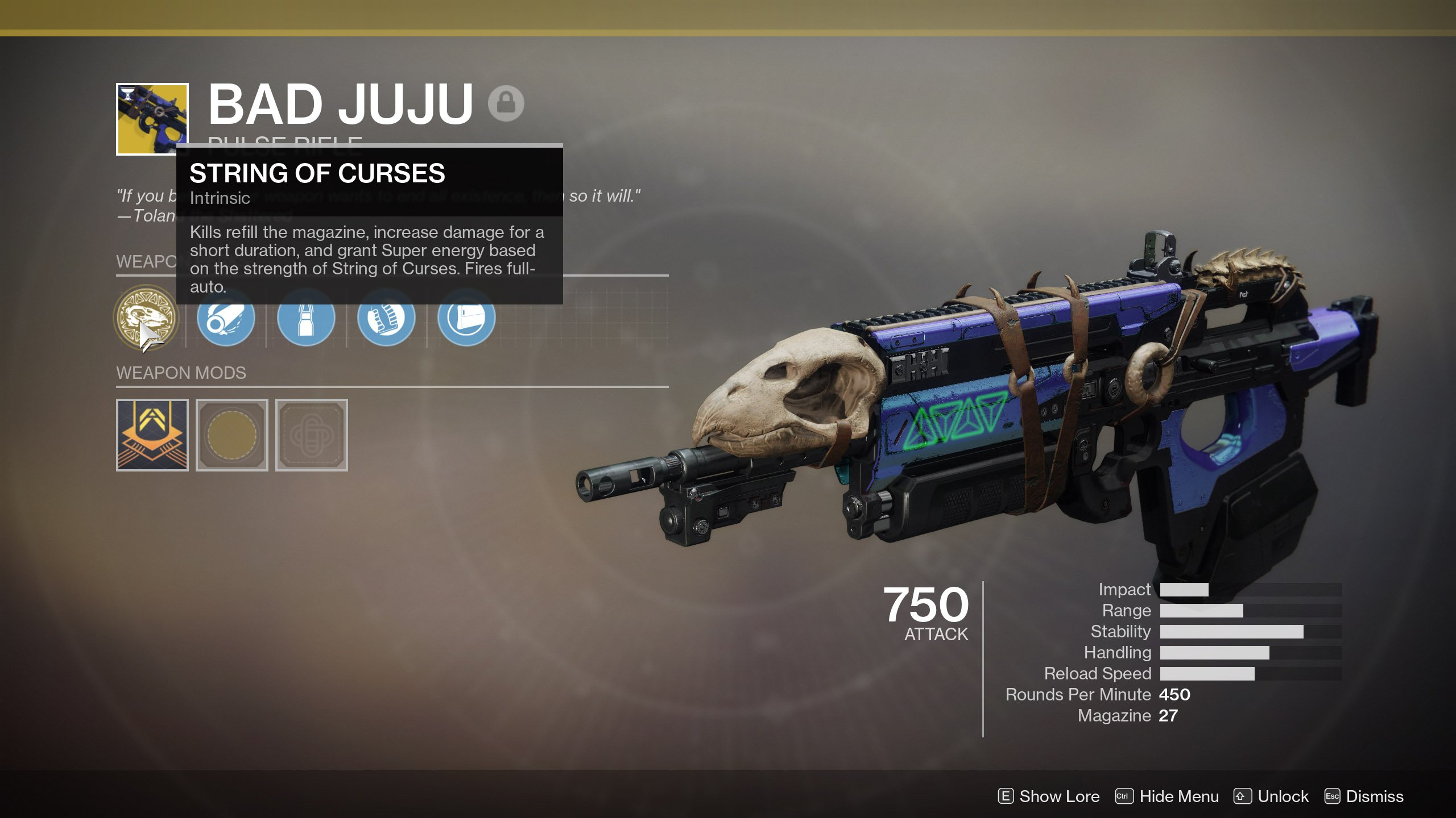 Bad Juju String of Curses Destiny 2