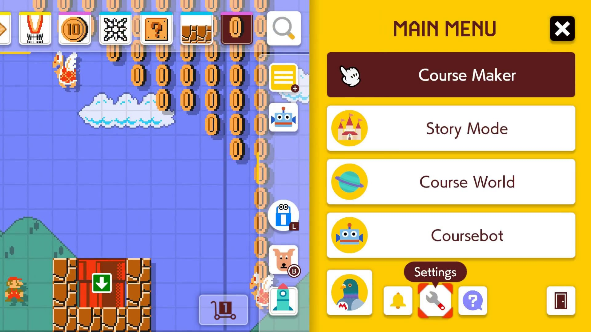 How to change characters in Super Mario Maker 2 main menu