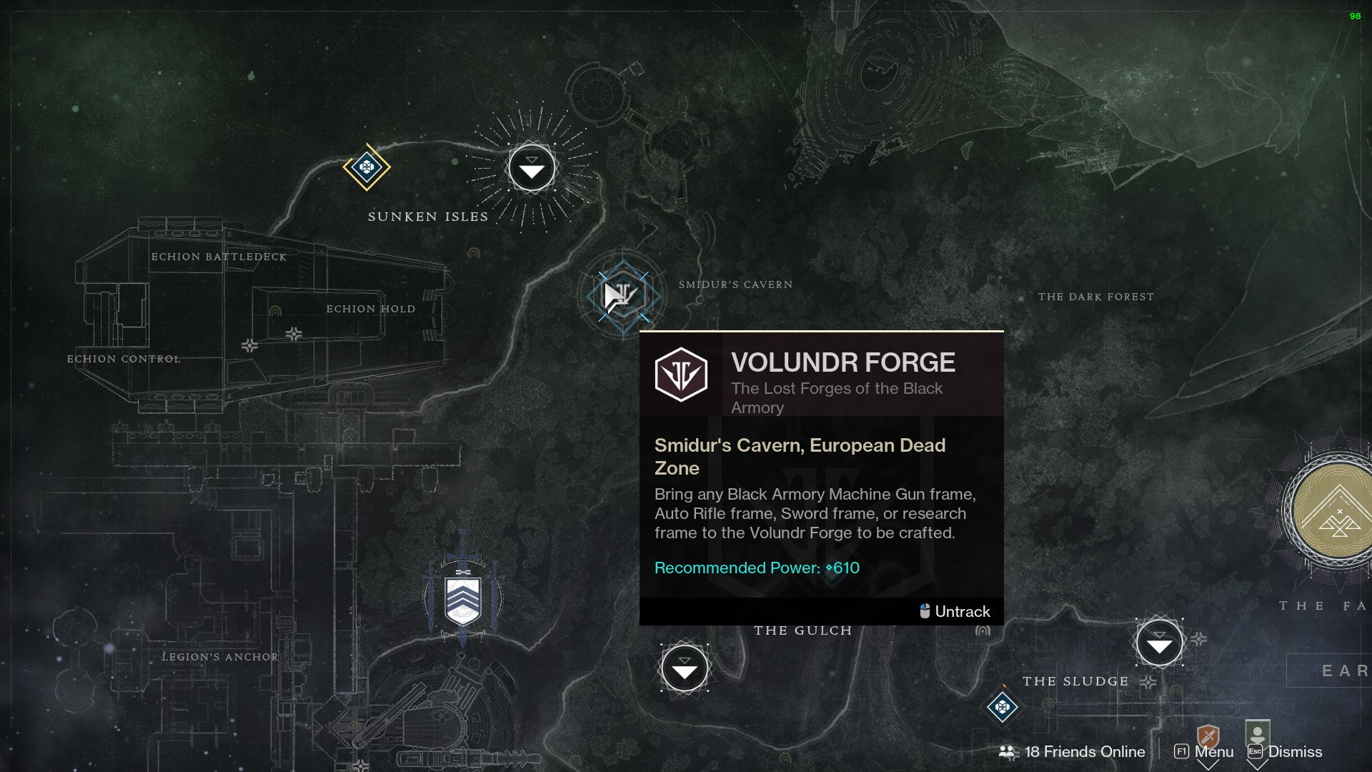 Destiny 2 forge farming