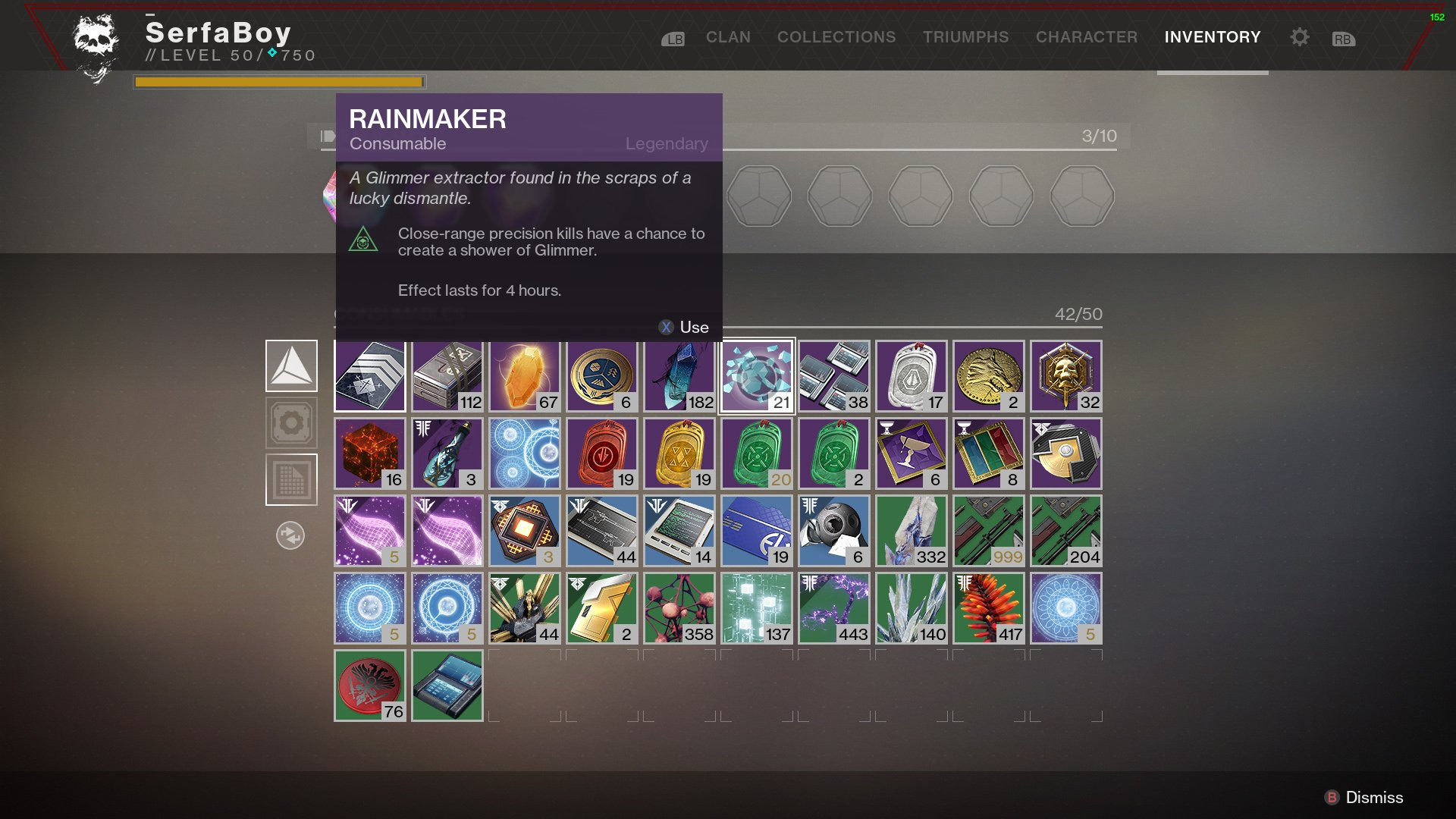 Rainmaker Glimmer Destiny 2
