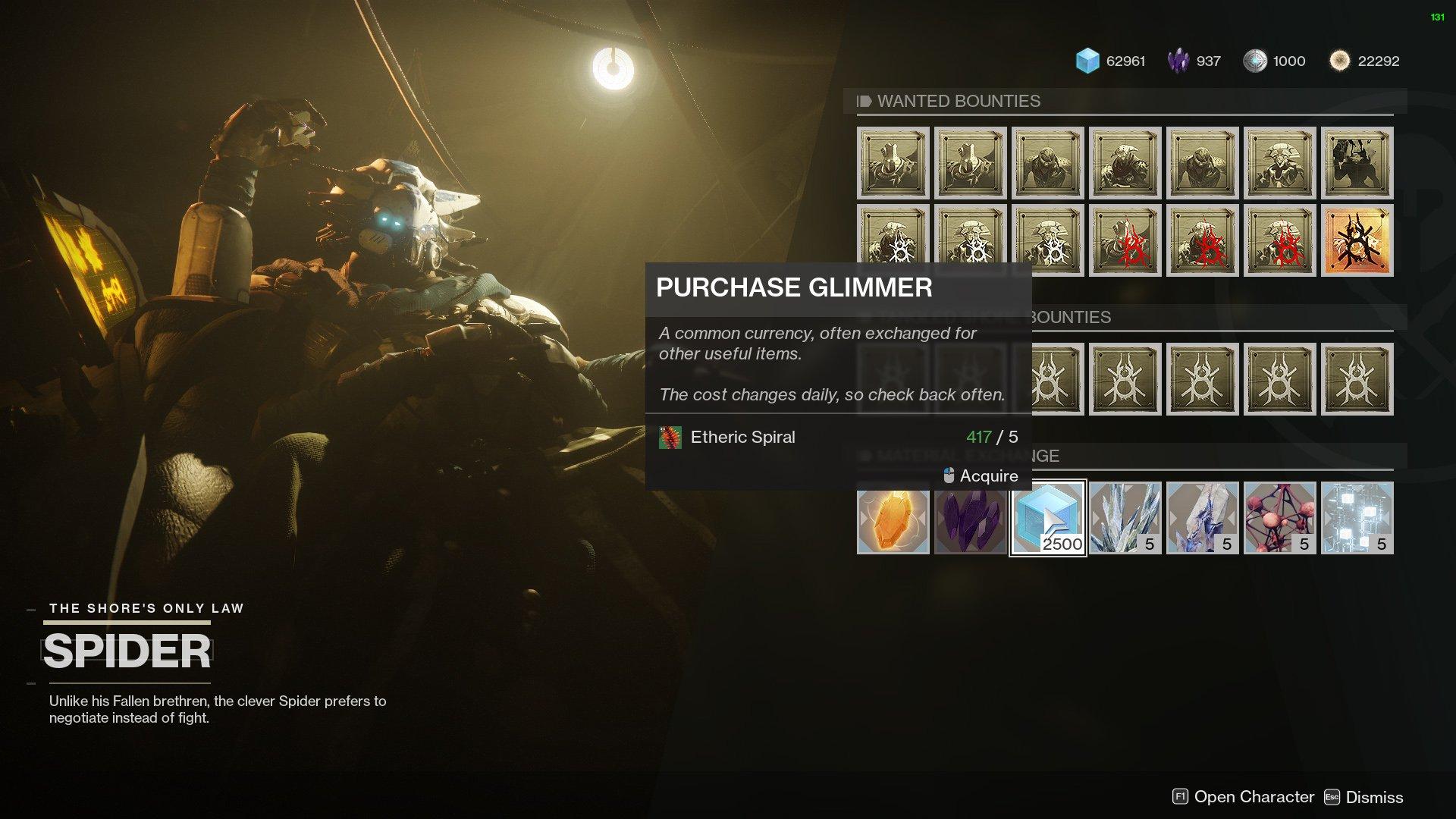 Spider Glimmer Destiny 2