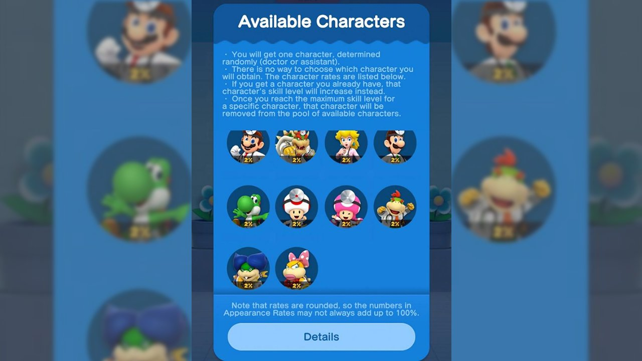 Dr. Mario World how to change characters unlock