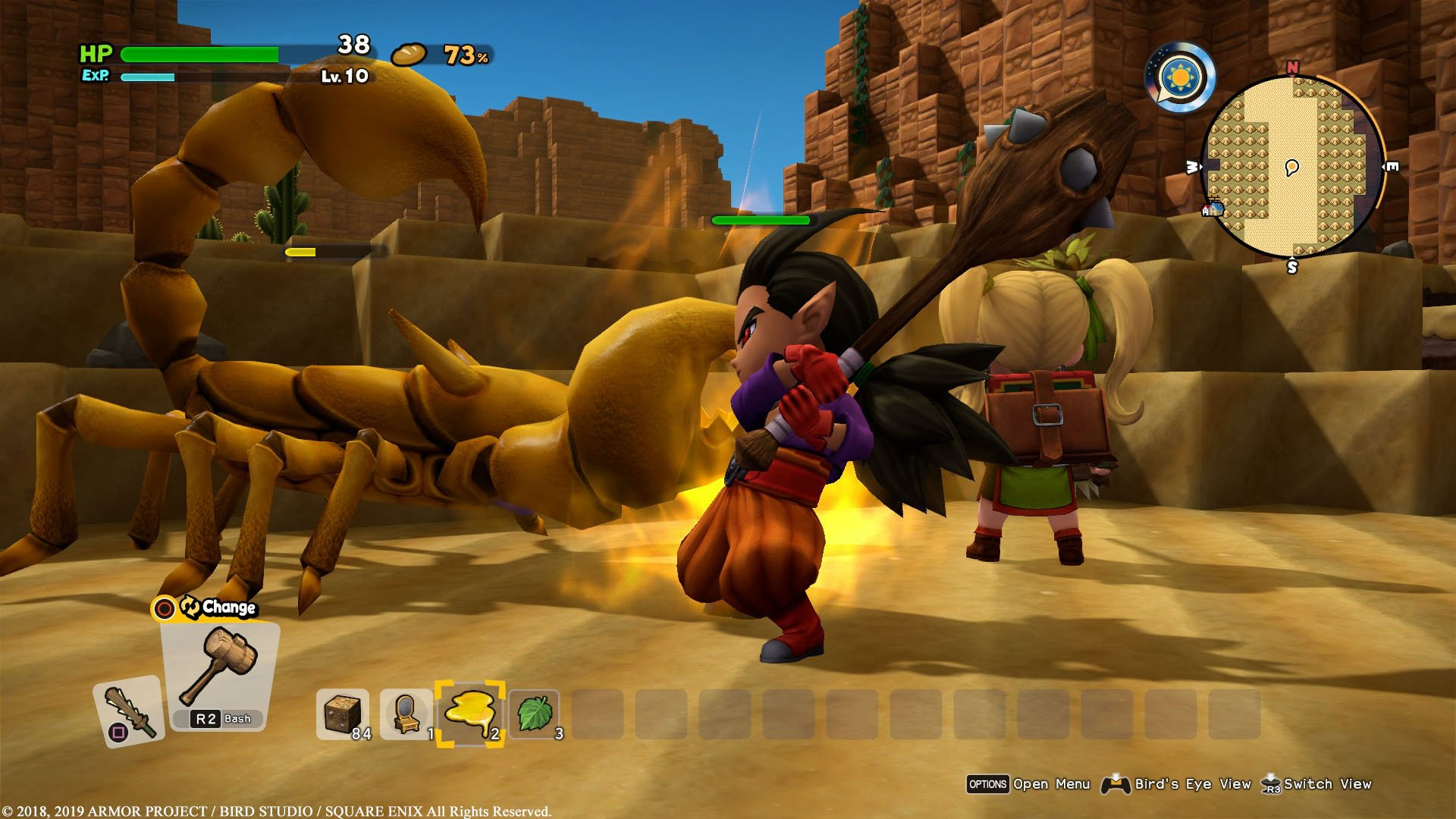 Dragon Quest Builders 2 review - combat gameplay