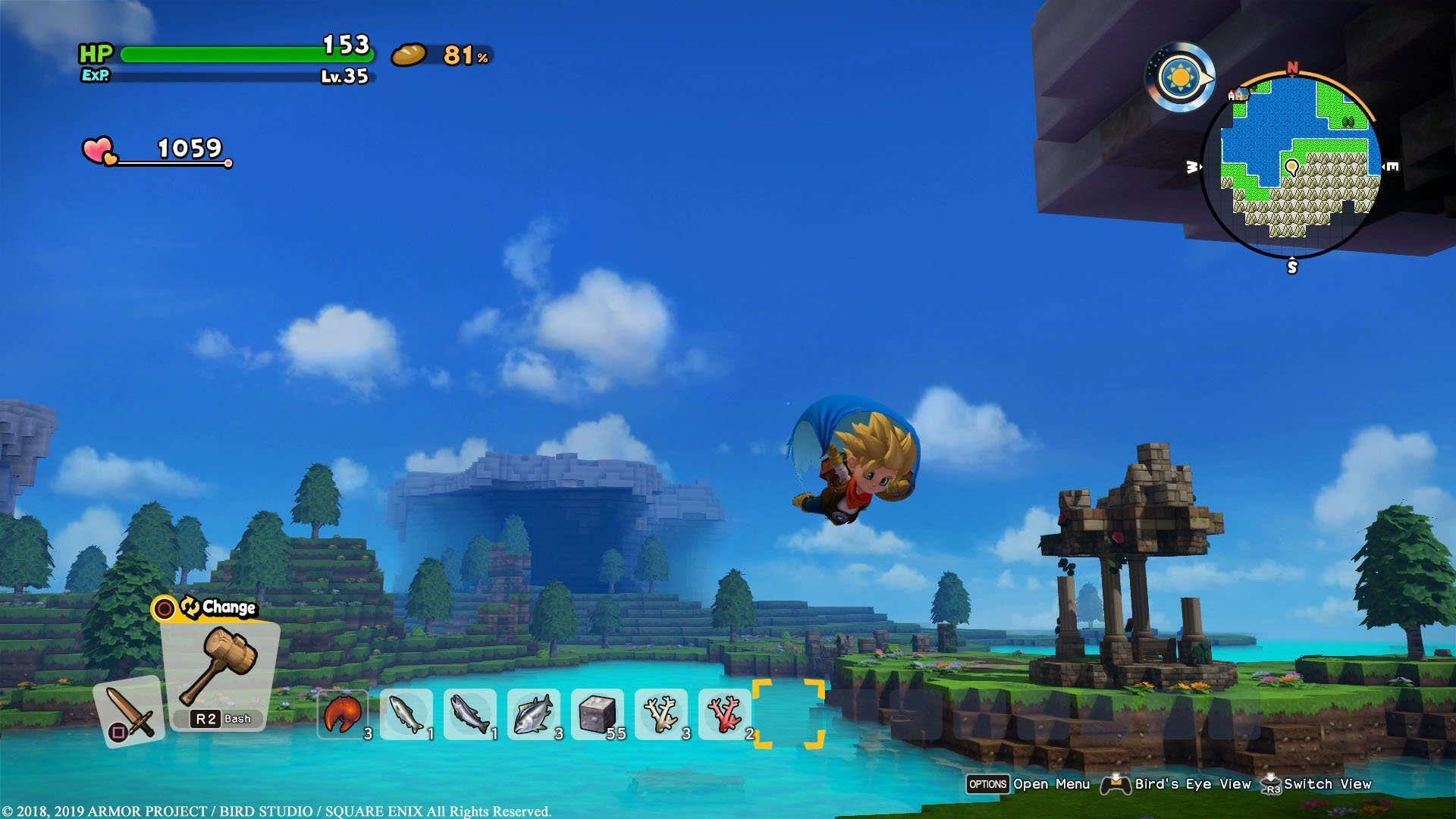 Dragon Quest Builders 2 review - gliding