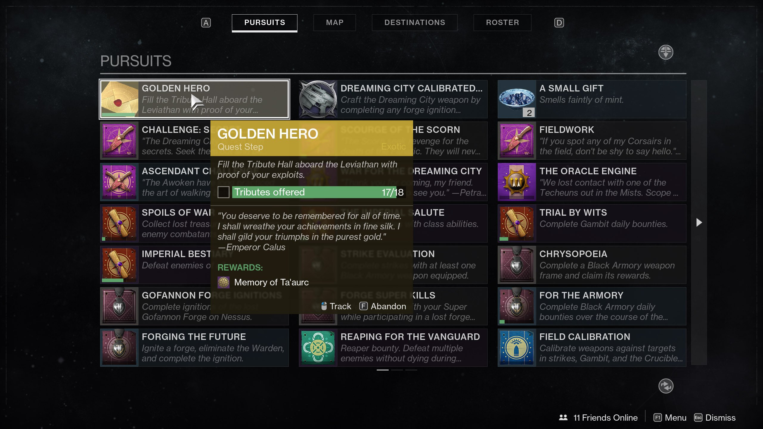 Golden Hero Quest Step Destiny 2
